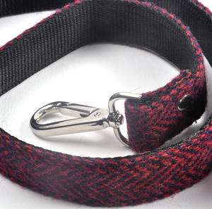Red Harris Tweed Dog Lead Thumbnail 4