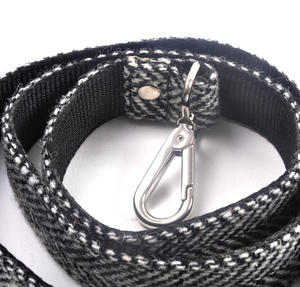 Black & White Harris Tweed Dog Lead Thumbnail 3