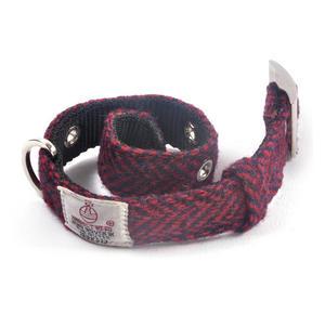Small Red Harris Tweed Dog Collar Thumbnail 2