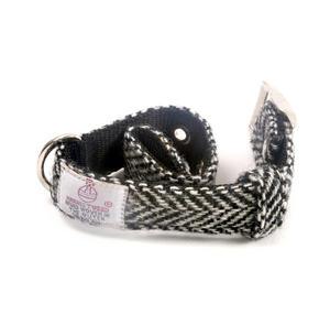 Small Black & White Harris Tweed Dog Collar Thumbnail 3