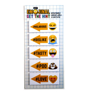 Get the Hint Emoji Stickers - 20 Emojinal Adhesive Labels Thumbnail 1