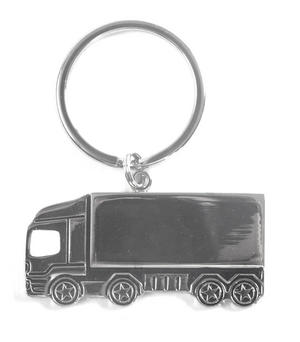Trucker Polished Steel Lorry Keyring Thumbnail 1