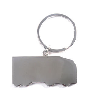 Trucker Polished Steel Lorry Keyring Thumbnail 2