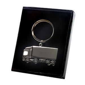 Trucker Polished Steel Lorry Keyring Thumbnail 3