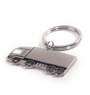 Trucker Polished Steel Lorry Keyring Thumbnail 4