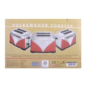 Red Volkswagen Camper Stainless Steel Toaster Thumbnail 4