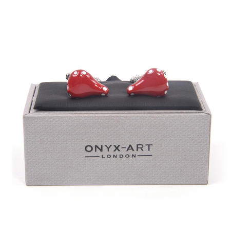 Cufflinks - Red Bicycle Saddle for Cyclists