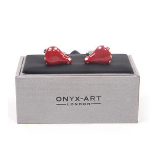Cufflinks - Red Bicycle Saddle for Cyclists Thumbnail 1
