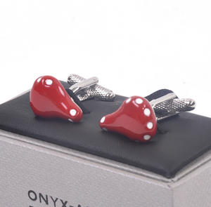 Cufflinks - Red Bicycle Saddle for Cyclists Thumbnail 2