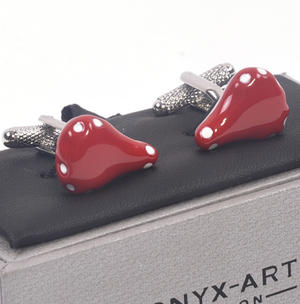 Cufflinks - Red Bicycle Saddle for Cyclists Thumbnail 3
