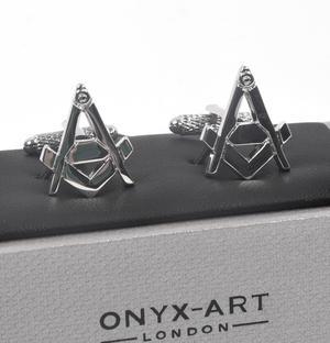 Cufflinks - Masonic Compass and Dividers Thumbnail 3