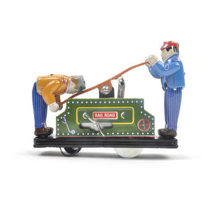 Railroad Handcar - Classic Clockwork Collector's Toy Thumbnail 1
