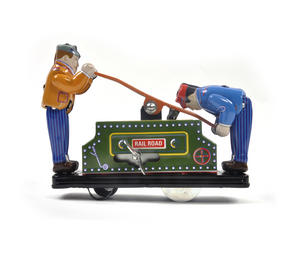 Railroad Handcar - Classic Clockwork Collector's Toy Thumbnail 2