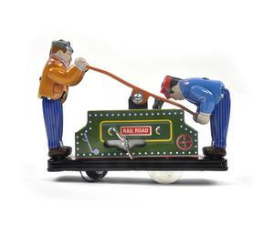 Railroad Handcar - Classic Clockwork Collector's Toy Thumbnail 2