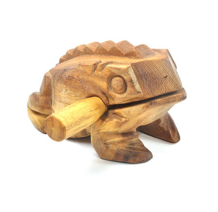Large Wooden Musical Frog (20 x 10.5 cm)