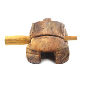 Large Wooden Musical Frog (20 x 10.5 cm) Thumbnail 2