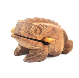 Large Wooden Musical Frog (20 x 10.5 cm) Thumbnail 3