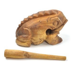 Large Wooden Musical Frog (20 x 10.5 cm) Thumbnail 5