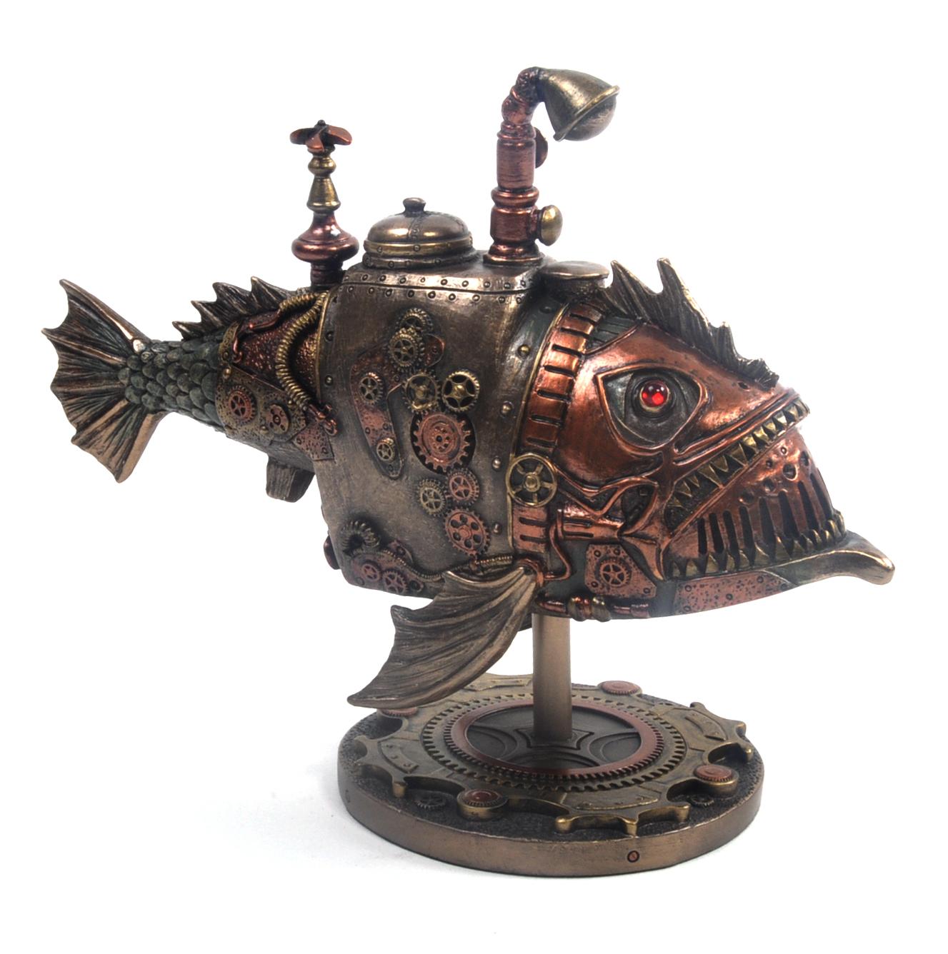 Sub Piranha Steampunk Sculpture 22 5cm Pink Cat Shop