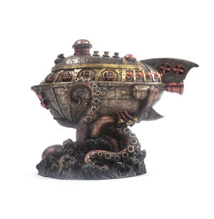 Leviathan's Escape Steampunk Sculpture 20 cm Thumbnail 2