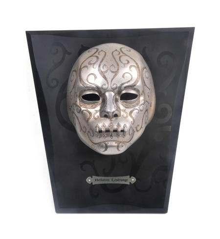 Bellatrix Lestrange Mask with Wall Mount Display Harry Potter Replica Noble Collection