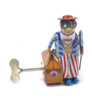 Monkey Globetrotter - Classic Clockwork Collector's Toy Thumbnail 6