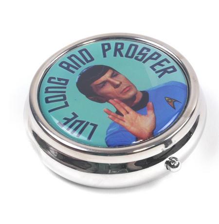 Spock Star Trek Live Long and Prosper Pill Box