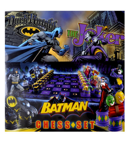 Batman Dark Knight vs The Joker Chess Set by Noble Collection
