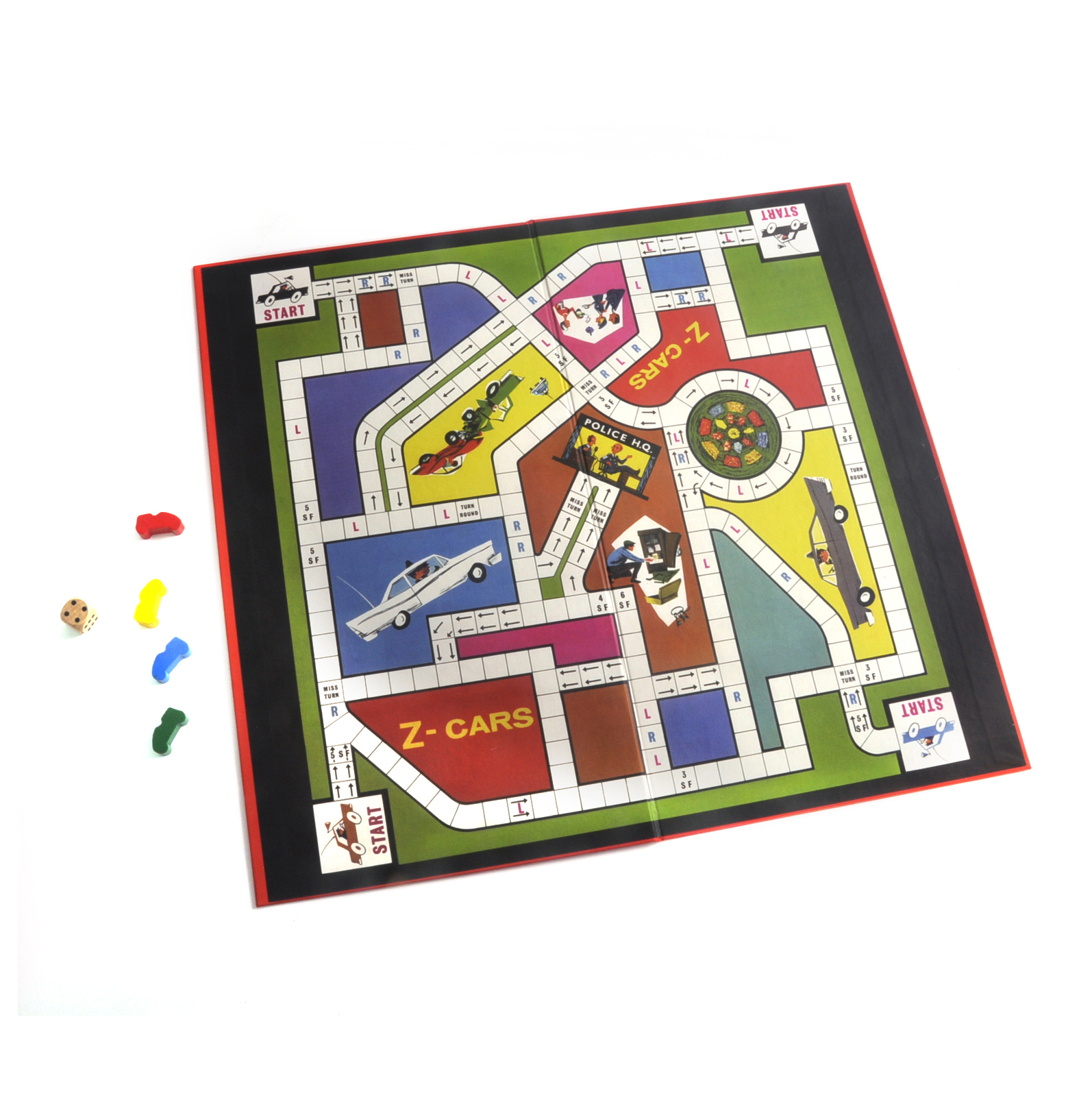 z cars the classic 1960s tv series retro board game pink cat shop. Black Bedroom Furniture Sets. Home Design Ideas