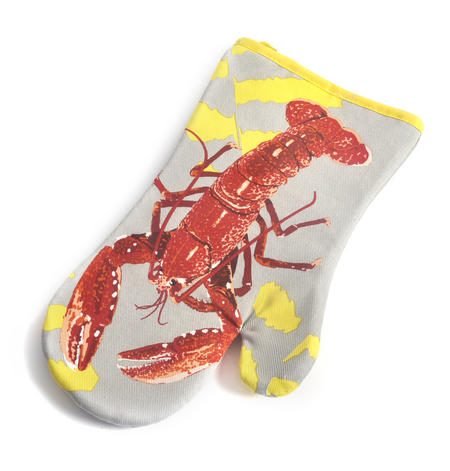 Lobster Oven Glove Mit Gauntlet by Leslie Gerry