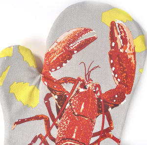 Lobster Oven Glove Mit Gauntlet by Leslie Gerry Thumbnail 2