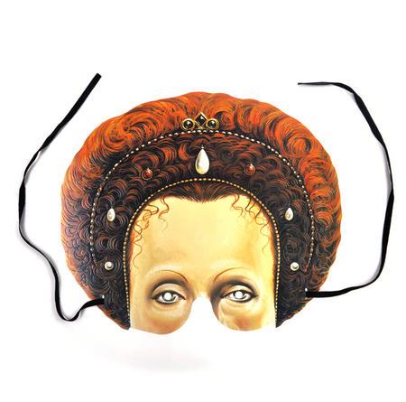 Classic Queen Elizabeth l Party Mask
