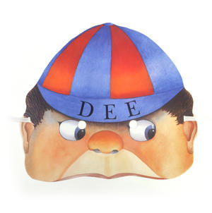 Tweedledee - Classic Alice in Wonderland Party Mask Thumbnail 1