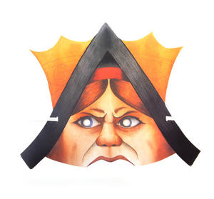 Queen of Hearts - Classic Alice in Wonderland Party Mask Thumbnail 1