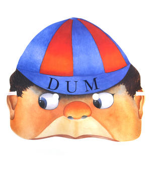 Tweedledum - Classic Alice in Wonderland Party Mask Thumbnail 1
