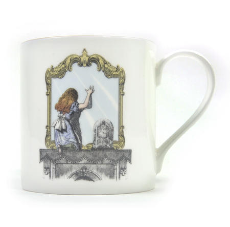 Alice In Wonderland Through the Looking Glass Fine Porcelain Mug