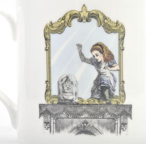 Alice In Wonderland Through the Looking Glass Fine Porcelain Mug Thumbnail 3
