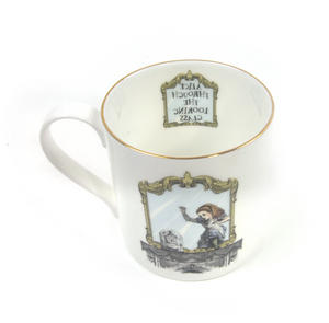 Alice In Wonderland Through the Looking Glass Fine Porcelain Mug Thumbnail 4