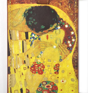 Gustav Klimt - The Kiss Luggage Tag / Bag Identifier Thumbnail 2