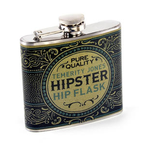 Gentleman's Hipster Hip Flask Thumbnail 1