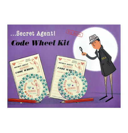 Secret Agent Code Wheel Kit - Top Secret Retro Spy Detective Set