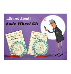 Secret Agent Code Wheel Kit - Top Secret Retro Spy Detective Set Thumbnail 1