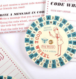 Secret Agent Code Wheel Kit - Top Secret Retro Spy Detective Set Thumbnail 3