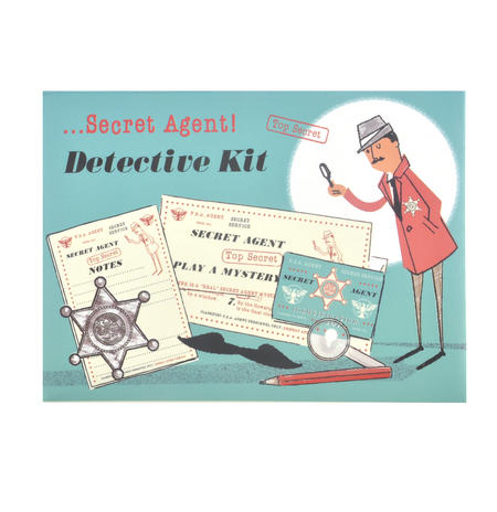 Secret Agent Detective Kit - Top Secret Retro Spy Detective Set