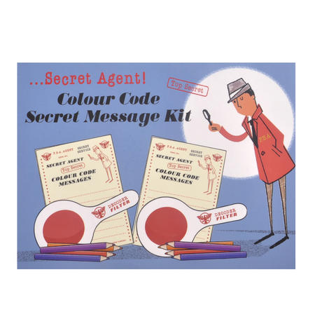 Secret Agent Colour Code Secret Message Kit - Top Secret Retro Spy Detective Set