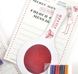 Secret Agent Colour Code Secret Message Kit - Top Secret Retro Spy Detective Set Thumbnail 3