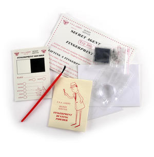 Secret Agent Fingerprint Kit - Top Secret Retro Spy Detective Set Thumbnail 2