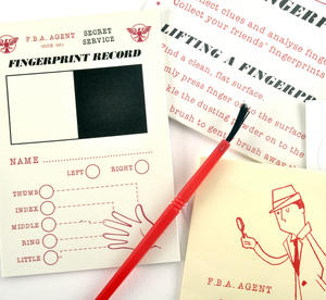 Secret Agent Fingerprint Kit - Top Secret Retro Spy Detective Set Thumbnail 3