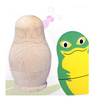 Painta Pet Frogs - Paint Your Own Russian Doll Set Thumbnail 1