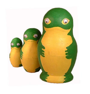 Painta Pet Frogs - Paint Your Own Russian Doll Set Thumbnail 3